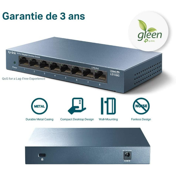 TP-Link LS108G - Switch Gigabit 8 ports