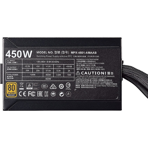 Alimentation PC Cooler Master MasterWatt 450